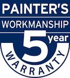 Painters Workmanship 5 Year Warranty